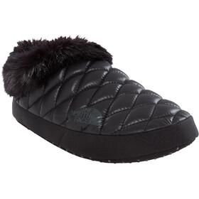 The North Face ThermoBall Tent Mule Faux Fur IV Zapatillas de estar por casa Mujer, shiny black/beluga grey